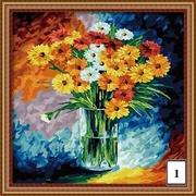 Комплект Художника,  краски,  холсты,  мольберты,  кисти,  Картины раскраски по номерам Украина