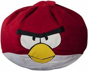 Бескаркасное кресло птица красная