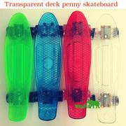 Скейтборд/скейт Penny Board прозрачный белый (Пенни борд): 6 цветов (л