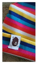 Детская разноцветная шапка в полоску,  Bape Kids