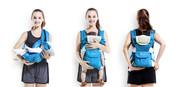 Рюкзак кенгуру с капюшоном для деток,  крепление поясница-пояс для расп