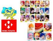 Весенние детские вязанные шапки