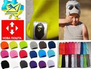 Трикотажные детские однотонные шапки Bape Kids